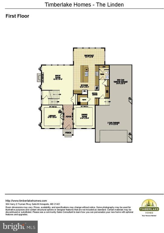 BUILDER FLOOR PLAN SUBJECT TO CHANGE - 7817 WOODYARD RD, CLINTON