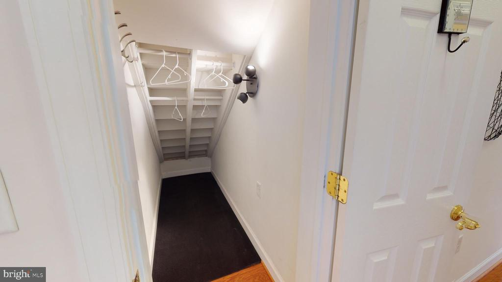 Extra closet under the stairs - 35 E ALL SAINTS ST #319, FREDERICK