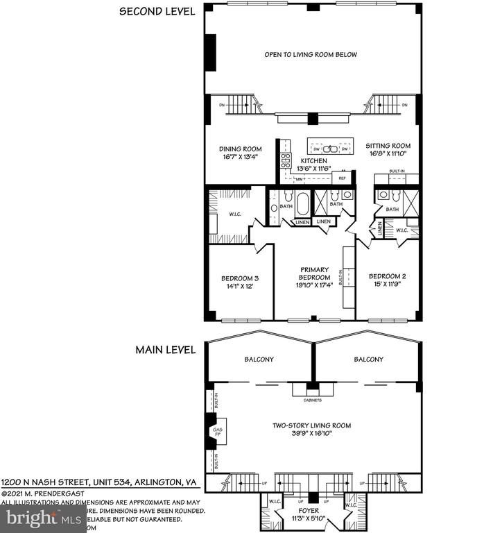 Floor plans - 1200 N NASH #544, ARLINGTON