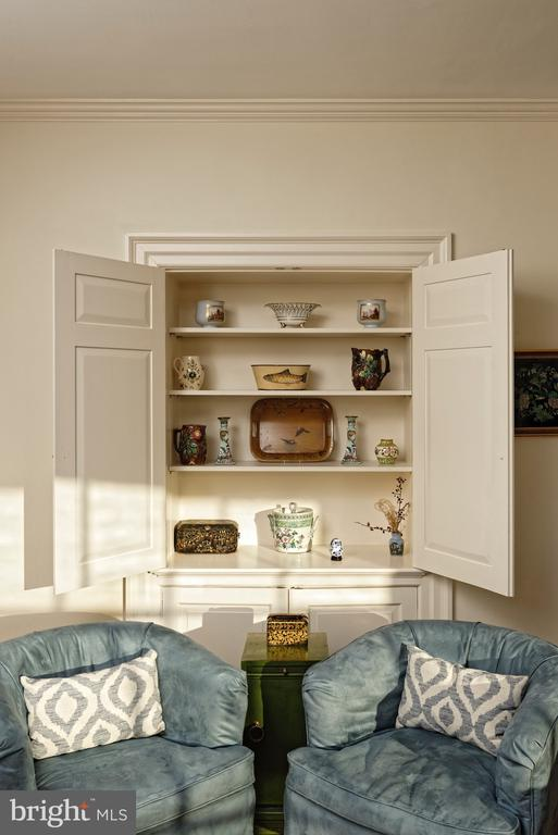 Unique custom built-ins throughout the house - 21943 ST LOUIS RD, MIDDLEBURG