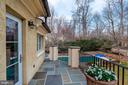 Terrace off Owner's Bath - 825 CLINTON PL, MCLEAN
