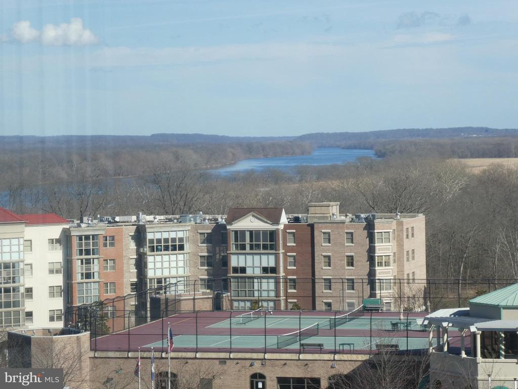 Rooftop Tennis Courts and Potomac River Beyond - 19365 CYPRESS RIDGE TER #416, LEESBURG