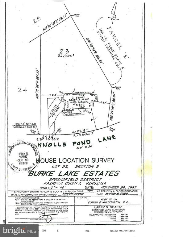 Plat showing home on .75 acre - 6302 KNOLLS POND LN, FAIRFAX STATION