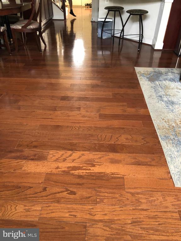 Kitchen floors! - 23600 BENNETT CHASE DR, CLARKSBURG