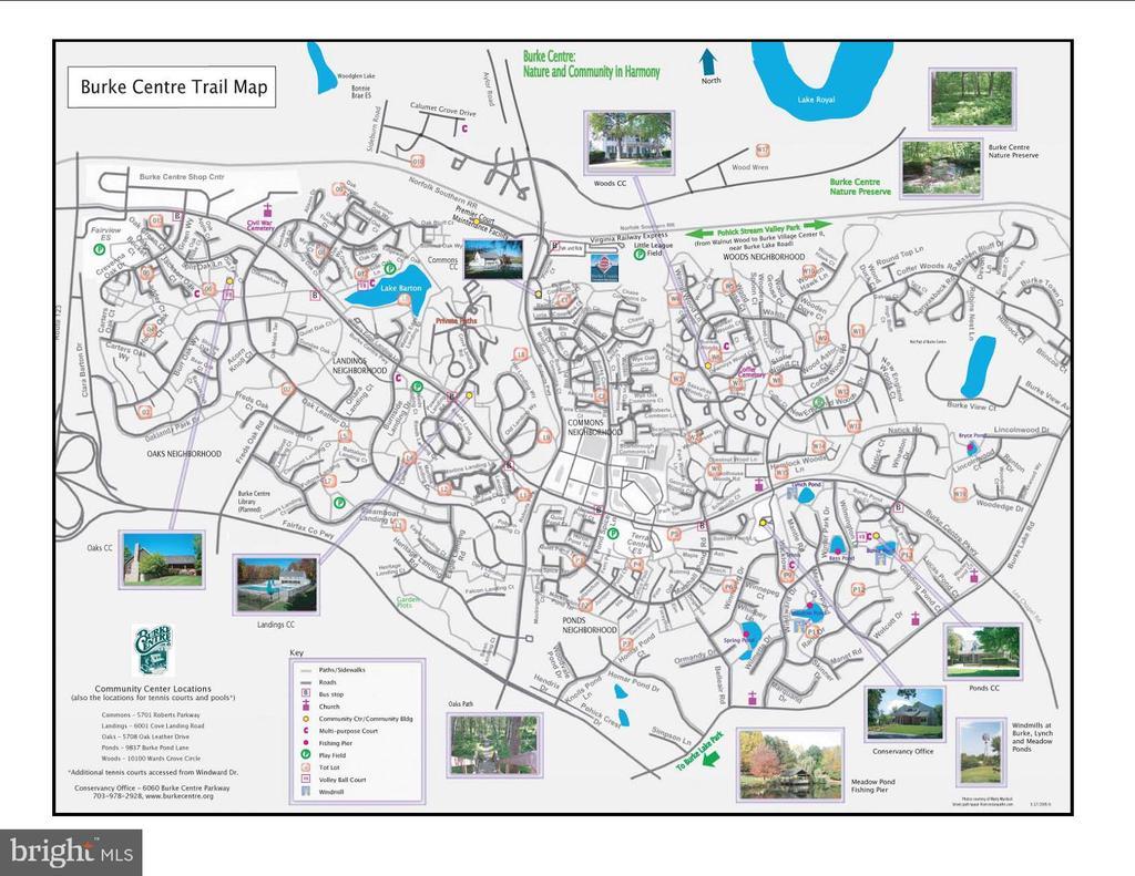 Map of Burke Centre - 6302 KNOLLS POND LN, FAIRFAX STATION