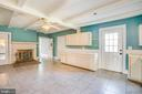 Kitchen w/ Exposed Beams and Fireplace - 6407 PLANK RD, FREDERICKSBURG