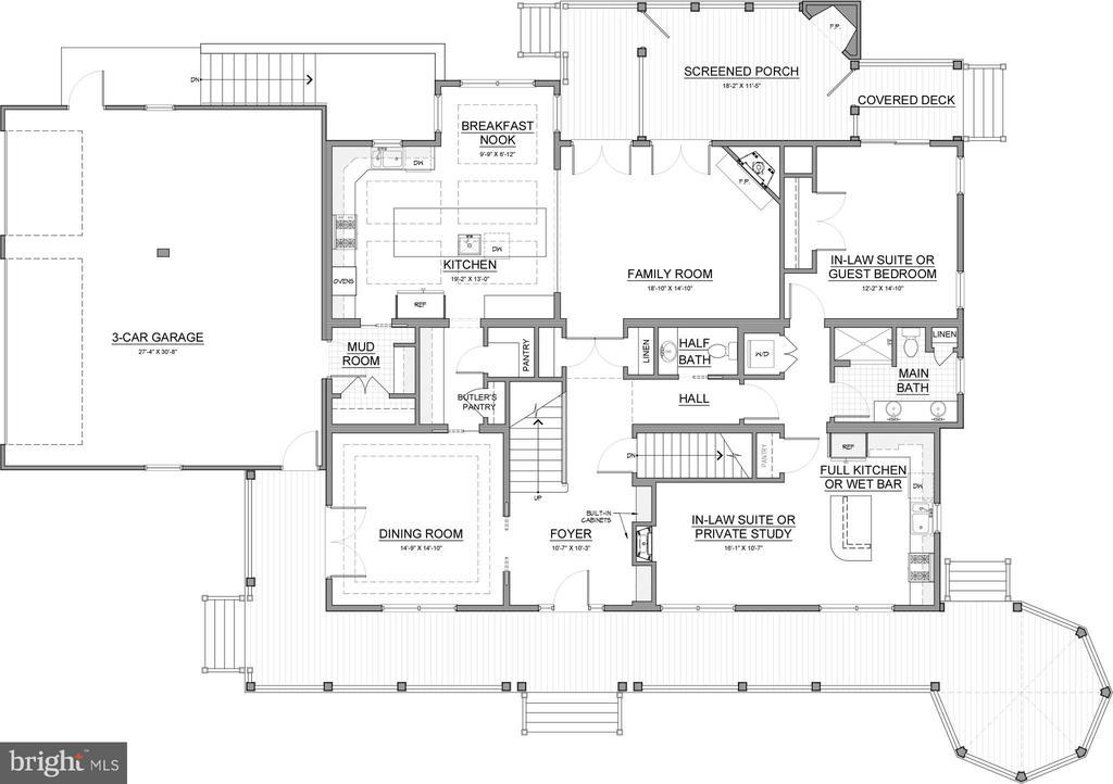 Main Level Basic Detail Plan - 6723 VALLEY BROOK DR, FALLS CHURCH