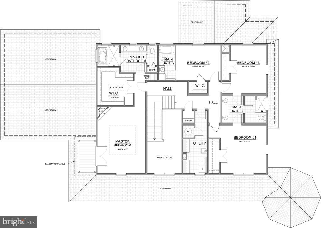 Upper Level Basic Detail Plan - 6723 VALLEY BROOK DR, FALLS CHURCH