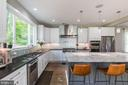 Huge island in gourmet kitchen - 4512 BURKE STATION RD, FAIRFAX