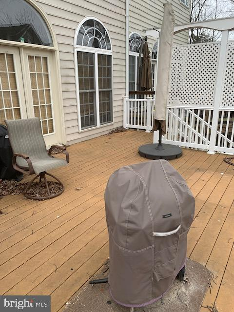 Large deck for grilling and entertaining! - 19134 ROCKY CREST TER, LEESBURG
