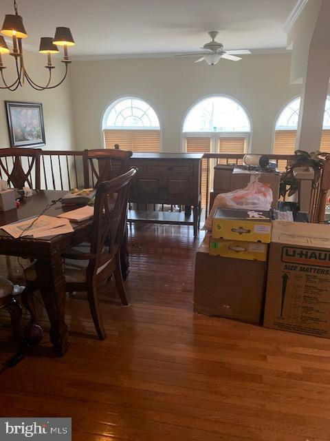 Large dining room off of kitchen - 19134 ROCKY CREST TER, LEESBURG