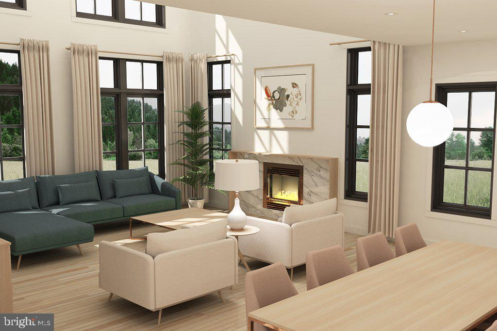 Artist's rendering of open plan & abundant windows - 18080 CANBY RD, LEESBURG