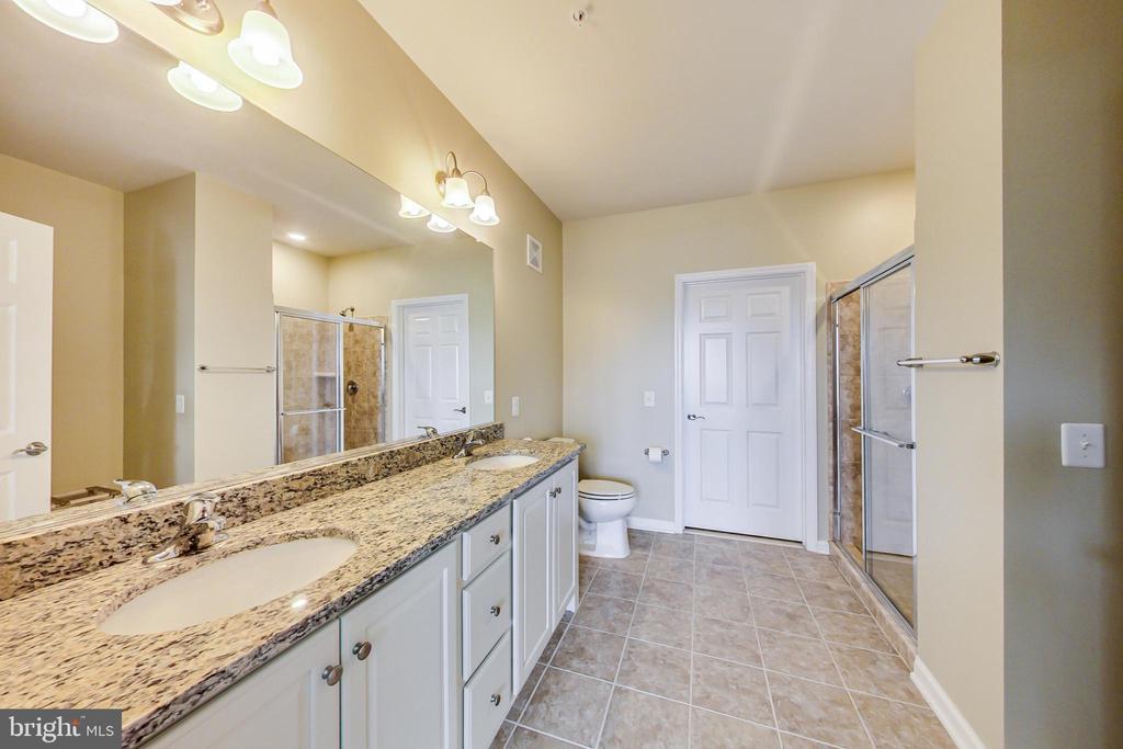 Double vanity and huge walk-in shower - 20570 HOPE SPRING TER #204, ASHBURN