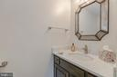 Main level 1/2 bathroom with granite - 4741 23RD ST N, ARLINGTON