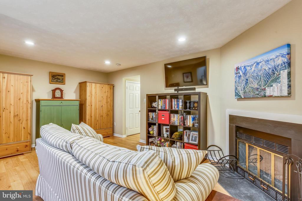 Lower level recreation room w/ recessed lighting - 10828 DOUGLAS AVE, SILVER SPRING