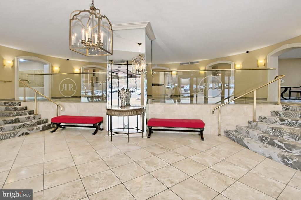 An elegant lobby with secure entry. - 8380 GREENSBORO DR #1017, MCLEAN