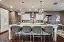Expanded island with seating for 6 - 42897 BEAVER CROSSING SQ, ASHBURN
