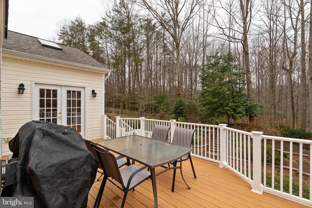Deck with view - 15230 BOWMANS FOLLY DR, MANASSAS