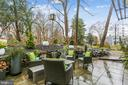 SERENE PATIO AND WATERFALL  SURROUNDED BY GARDENS - 5025 WISSIOMING RD, BETHESDA