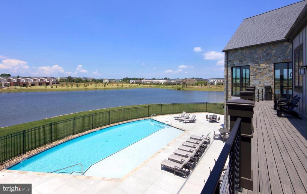 Clubhouse outdoor infinity pool - 42897 BEAVER CROSSING SQ, ASHBURN