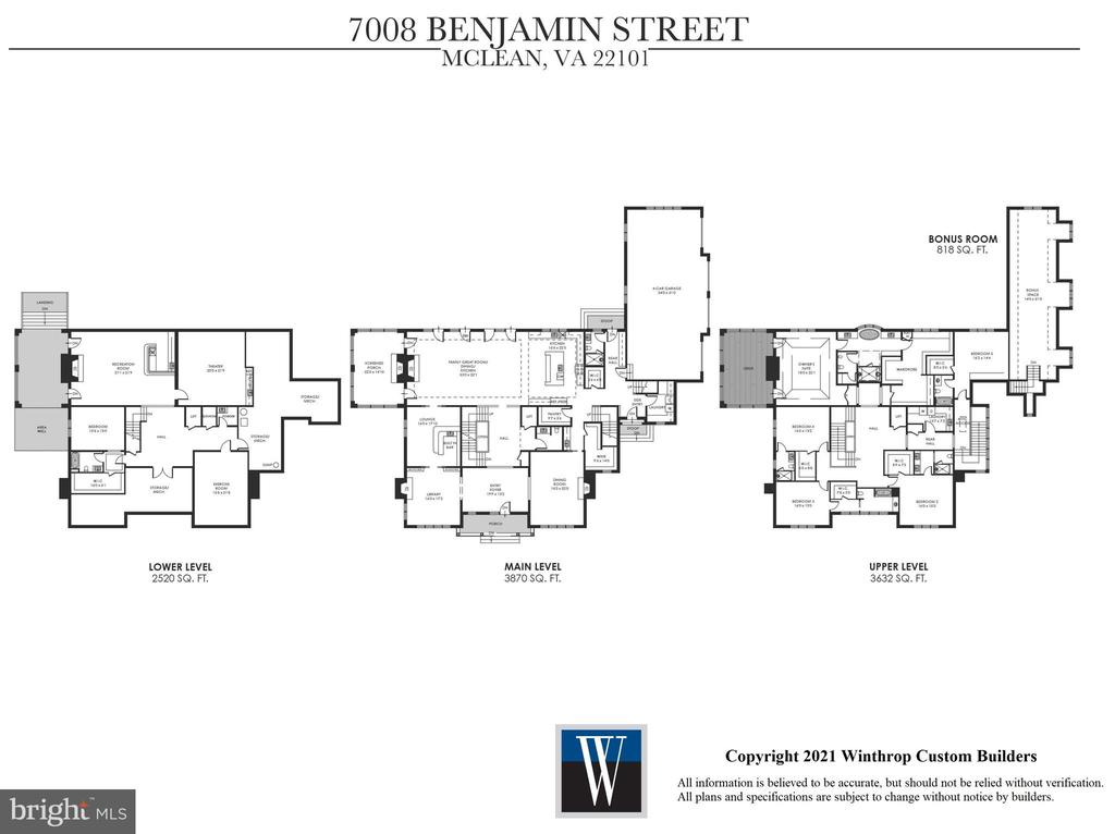 Floor Plans - 7008 BENJAMIN ST, MCLEAN