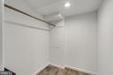 Walk-in in the basement bedroom - 604 N LATHAM ST, ALEXANDRIA