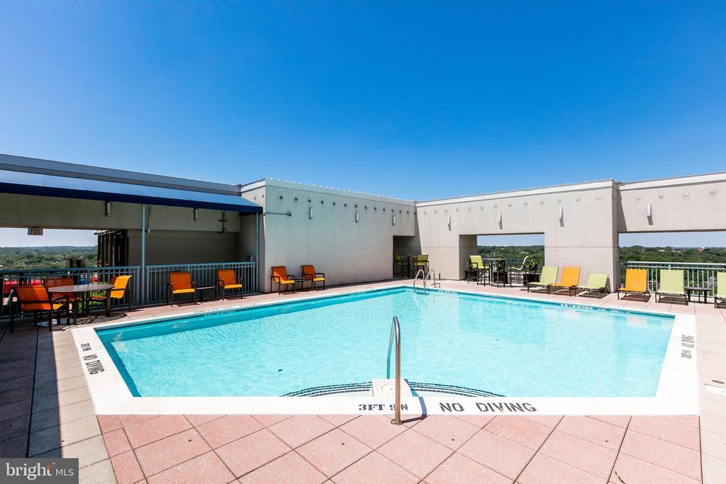 Roof top pool - 851 N GLEBE RD #1717, ARLINGTON