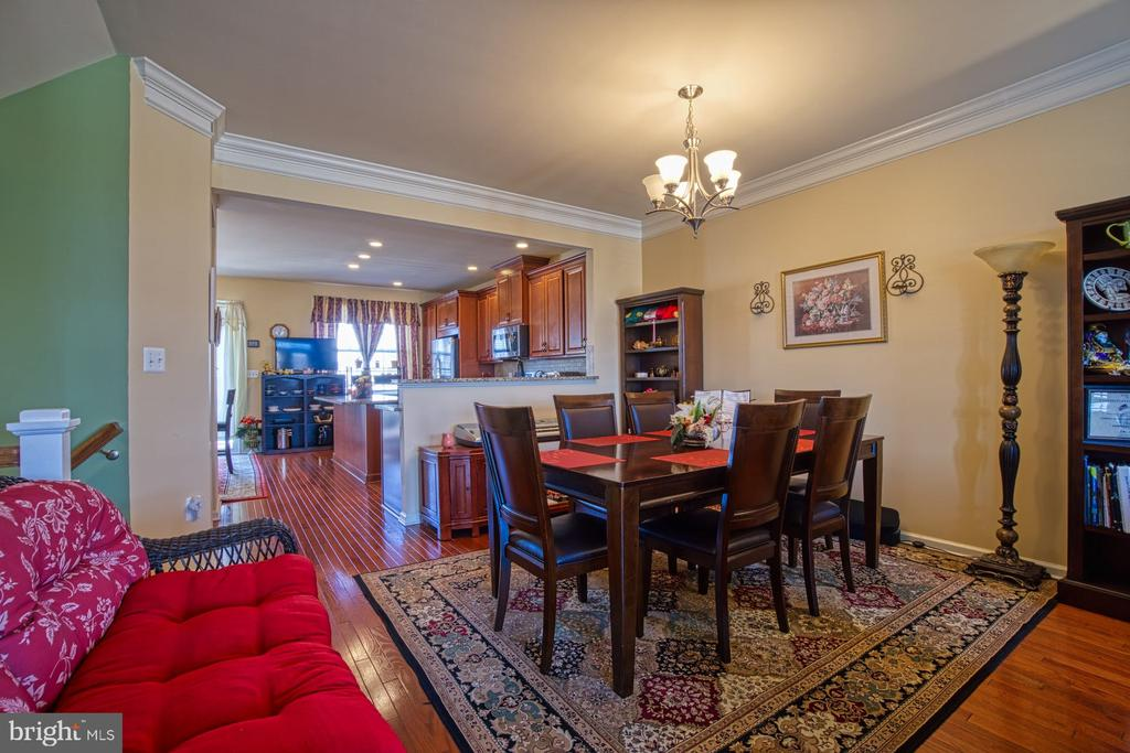 Dining Room Flows Nicely into Kitchen - 23399 CARTERS MEADOW TER, ASHBURN