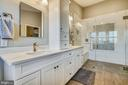 Completely remodeled primary bathroom is gorgeous! - 4124 TROWBRIDGE ST, FAIRFAX