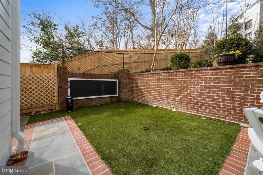 Play area with artificial turf. Golf anyone? - 3008 RUSSELL RD, ALEXANDRIA