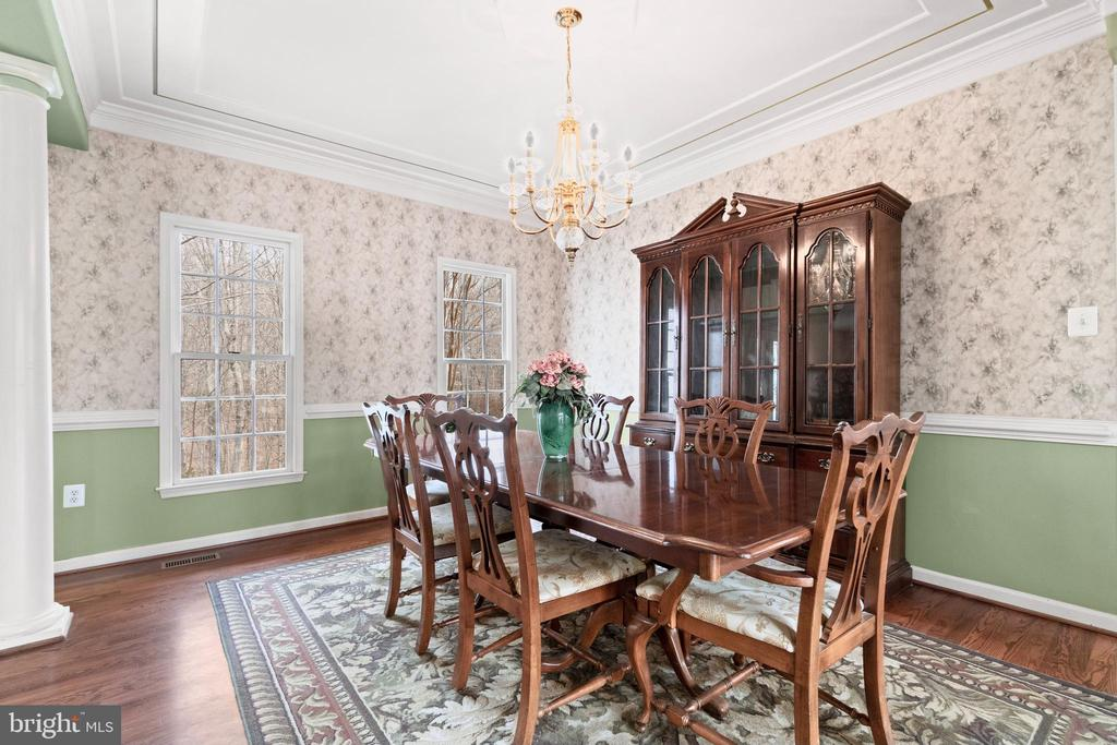 Formal dining room with chair rails - 39 BETHANY WAY, FREDERICKSBURG