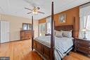 Primary Bedroom with hardwoods - 39 BETHANY WAY, FREDERICKSBURG
