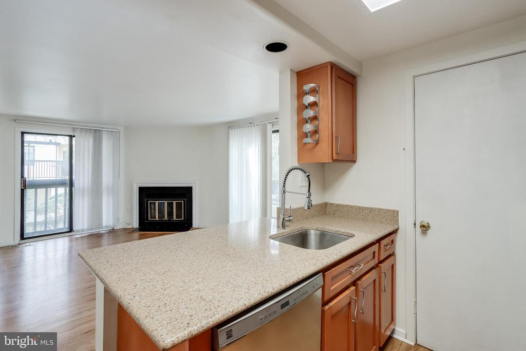 Kitchen with Granite counters - 9737 HELLINGLY PL #30, GAITHERSBURG