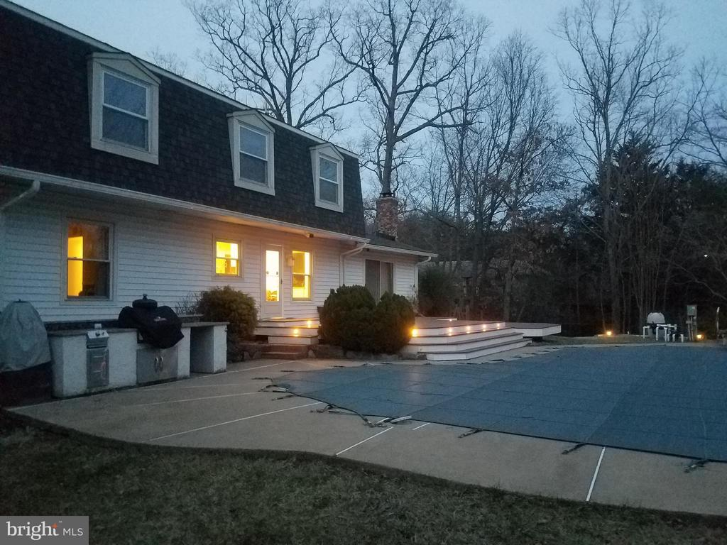 Rear Exterior w/Accent Lights - Provided by Seller - 9107 ROOKINGS CT, SPRINGFIELD