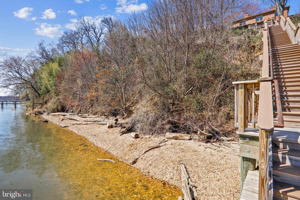 Private, secluded beach area for relaxing - 3903 BELLE RIVE TER, ALEXANDRIA