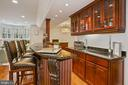 Wet Bar features Granite Countertops - 2424 N EDGEWOOD ST, ARLINGTON