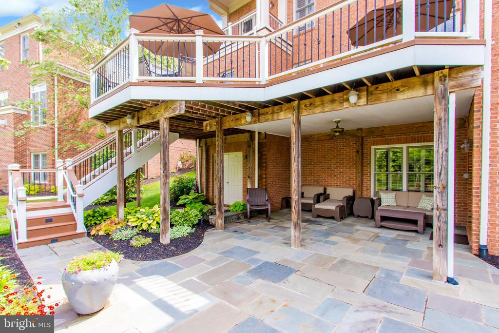 Access Patio from Lower Level Recreation Room - 23037 OLYMPIA DR, BRAMBLETON