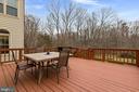 Deck - access from the kitchen - 5722 WINDSOR GATE LN, FAIRFAX