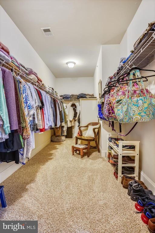 Large Primary Closet - 17243 MISS PACKARD CT, DUMFRIES