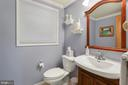 Powder Room on lower level - 10613 PINEVIEW RD, MANASSAS