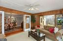 Sunroom with doors to the deck - 10613 PINEVIEW RD, MANASSAS
