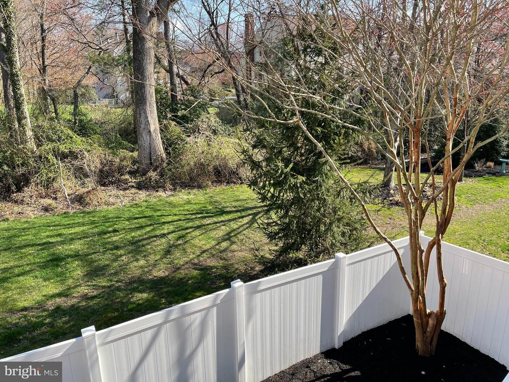 Beautiful view from back deck! - 10286 GREENSPIRE DR, OAKTON