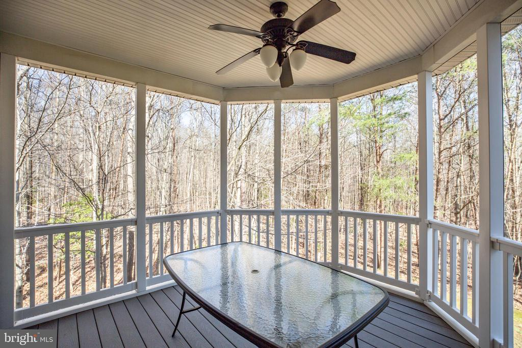 Covered Porch off Sunroom - 94 BROOKESMILL LN, STAFFORD