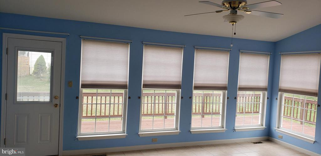 Sun Room with View of Deck - 55 FOX LN, WHITE POST
