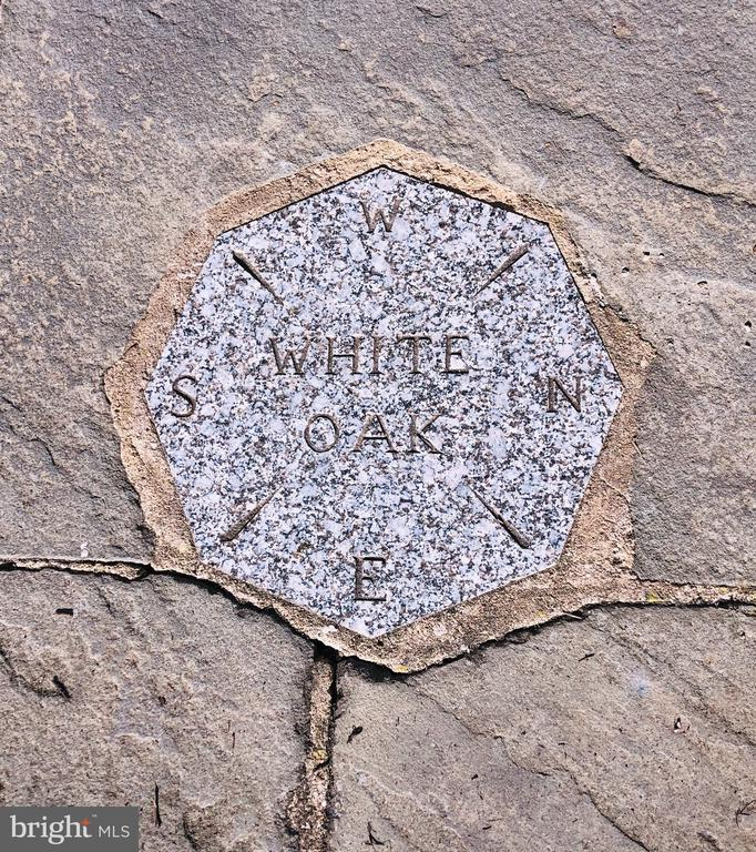 Compass stone by front door with words White Oak - 21943 ST LOUIS RD, MIDDLEBURG