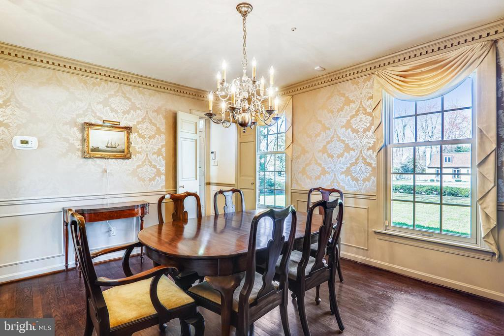 Hardwood Floors, and large windows in Dining RM - 3903 BELLE RIVE TER, ALEXANDRIA