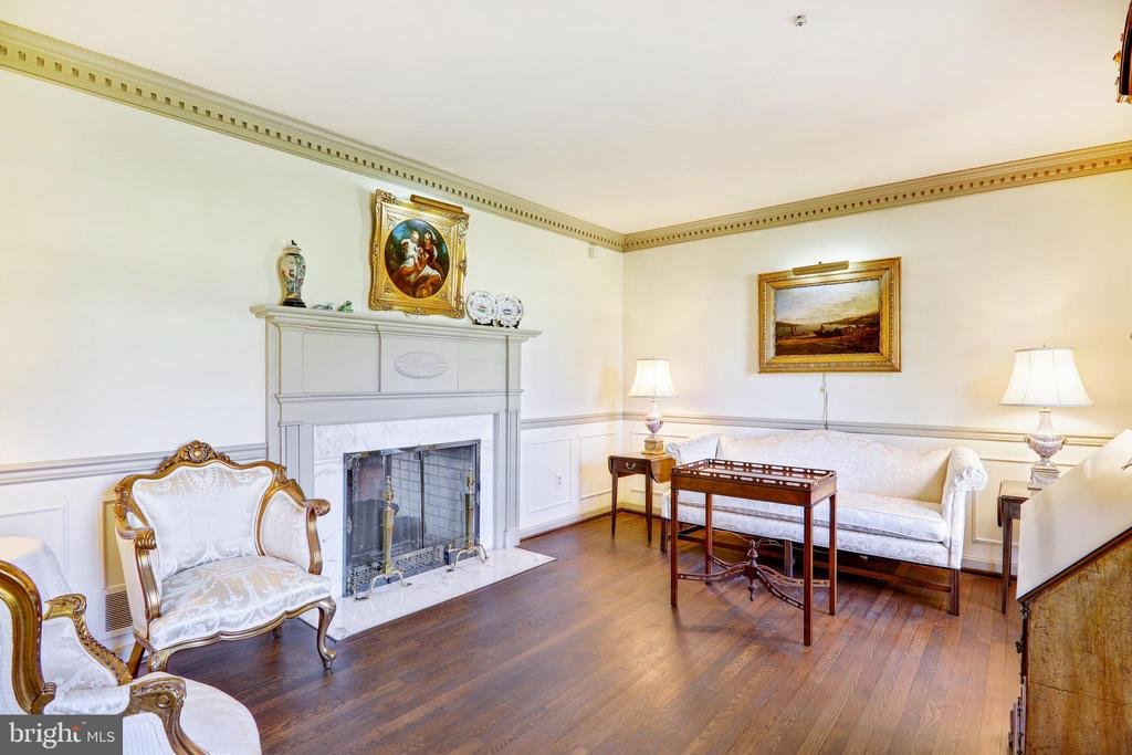 Light filled Living Rm w/ double sided fireplace - 3903 BELLE RIVE TER, ALEXANDRIA