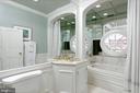 Top floor hall bathroom w/mirrored shower - 711 PRINCE ST, ALEXANDRIA