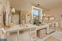 New white marble en suite bath with dual vanities - 711 PRINCE ST, ALEXANDRIA