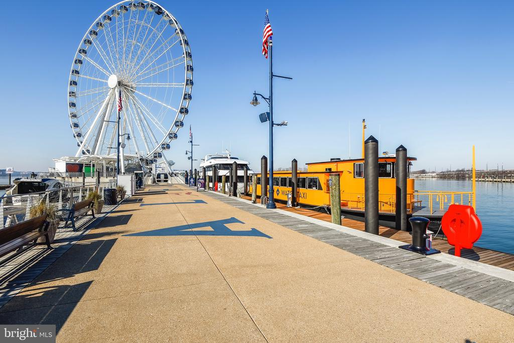 Water Taxi and The Capitol Wheel - 157 FLEET ST #413, NATIONAL HARBOR
